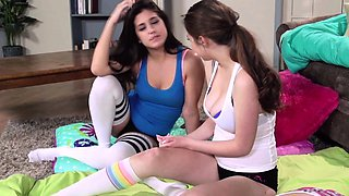 video titel: Innocent teens play with their friends pussy || porn tgas: 3some,babe,big tits,brunette,nuvid