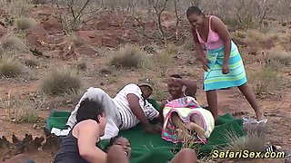 video titel: wild african safari sex orgy || porn tgas: 3some,african,amateur,big cock,
