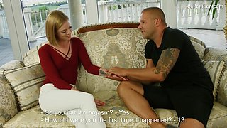 video titel: Small titted blonde decided that it was a good time to stop being a virgin anymore || porn tgas: blonde,cumshots,high definition,milf,