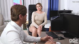 video titel: Busty office colleague nikky dream gives stud blowjob at wor || porn tgas: blowjob,busty,dreams,office,jizzbunker