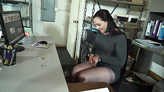 video titel: Sexy brunette making her jail fantasy cum true || porn tgas: babe,bbw,brunette,cougar,pornone_com