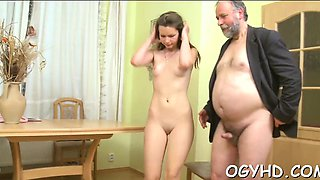 video titel: Horny young girl gets experience with old paramour || porn tgas: 3some,brunette,cuckold,group,drtuber