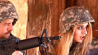 video titel: Blonde babe in military uniform gets fucked hardcore by her colleague || porn tgas: blonde,fuck,hardcore,uniform,bravotube
