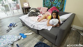 video titel: Lustful teen in thongs and bra Catalina Ossa seduces stepbrother || porn tgas: seduction,stepbrother,teen,anysex