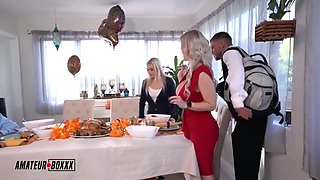 video titel: MIND CONTROLLED THANKSGIVING FAMILY || porn tgas: 3some,big tits,blonde,cuckold,hotmovs