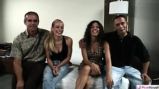 video titel: Both couples are excited to Wife Switch. That is until Ds || porn tgas: amateur,blonde,brunette,couple,nuvid