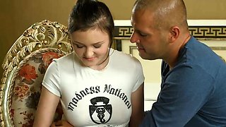 video titel: Shy teen with aroused tits Galina Kurnosaya is gently rubbed || porn tgas: aroused,shy,teen,tits,iceporn
