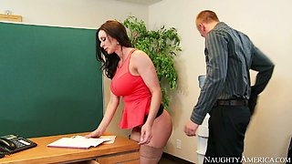 video titel: Nasty secretary with big boobs Kendra Lust fucked on the table by Richie Black || porn tgas: black,boobs,fuck,nasty,xcafe