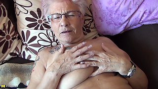 video titel: Tattooed granny exposes her big clit for your pleasure || porn tgas: clit,granny,pleasure,tattoo,anyporn