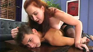 video titel: Redhead mistress humiliates a guy and toy his ass || porn tgas: ass,gay,mistress,redhead,anyporn