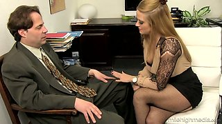 video titel: Office whore Holly Heart takes off bra and skirt and seduces one kinky man || porn tgas: ass,babe,big cock,big tits,anysex