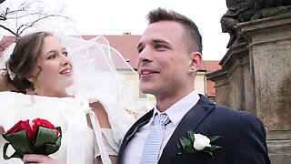 video titel: Have you every fucked someones bride at the. || porn tgas: blowjob,bride,brunette,cuckold,drtuber