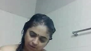 video titel: Indian mature aunty taken selfi nude bath clip for her frien || porn tgas: aunty,bathroom,indian,nudity,xhamster