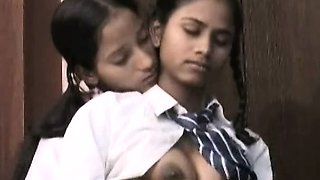 video titel: Indian School Girls Filmed By Teacher In Lesbian Sex || porn tgas: indian,lesbian,school girl,teacher,nuvid
