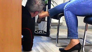 video titel: Technician visit the secretary office with horny surprice || porn tgas: big tits,closeup,european,foot,xhamster