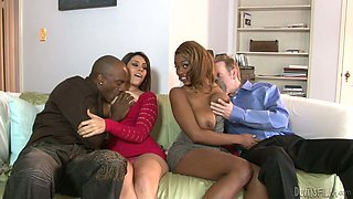 video titel: Open minded couples switch their partner for hot swingers fuck session || porn tgas: 4some,big ass,big tits,blowjob,anysex