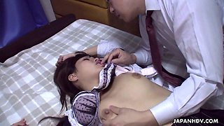 video titel: Co worker fucks pretty hot Asian babe Rika Namikawa after a corporate party || porn tgas: asian,babe,blowjob,creampie,anysex