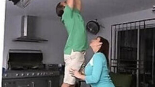 video titel: Stepmother is always there to get him horny    porn tgas: 3some,cheating,couple,group,PornoSex