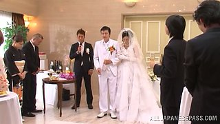 video titel: Japanese bride gets fucked by a few men after the ceremony || porn tgas: asian,ass,bride,doggy,anyporn