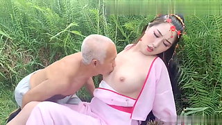 video titel: Ancient costume, female ghost tempts 70 year old farmer || porn tgas: costumes,female,old and young,xhamster