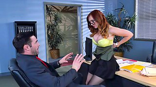 video titel: Ginger with sexy glasses loves to have wild sex with boss || porn tgas: boss,femdom,glasses,love,sexvid
