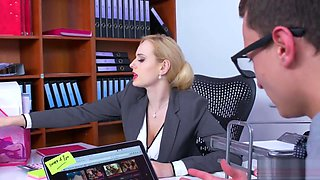 video titel: Boobylicious office enchantress got some dick installed in her vagina || porn tgas: big tits,dick,office,pussy,