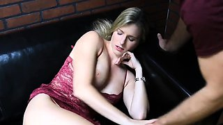 video titel: Son fucks her mom on bed and cum inside || porn tgas: bed,big tits,blonde,creampie,