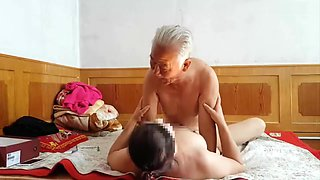 video titel: Chinese grandpa making grandma cum hard || porn tgas: amateur,asian,big tits,brunette,