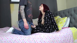 video titel: Horny Brother Seduces Sister || porn tgas: big cock,blowjob,brother,brunette,
