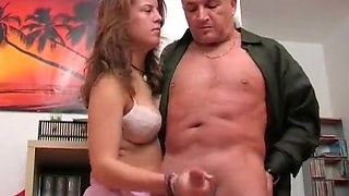 video titel: Amazing Amateur video with Handjob, Young Old scenes || porn tgas: amateur,amazing,handjob,old and young,