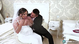 video titel: Wedding sex with a chubby chick who loves to swallow || porn tgas: bbw,big tits,blowjob,bride,xxxdan