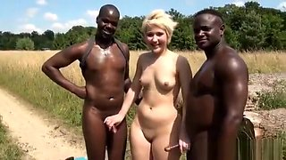 video titel: French PAWG has Threesome Gangbang in field || porn tgas: 3some,european,french,gangbang,hotmovs