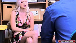 video titel: Horny male officer fucks busty thief || porn tgas: amateur,big cock,big tits,blonde,iceporn
