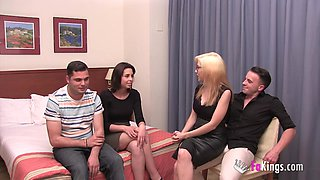 video titel: Their first swinger experience with only 18yo || porn tgas: 18 years old,couple,first time,old and young,