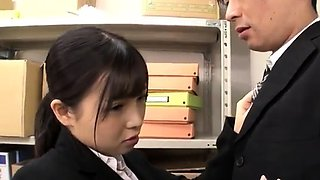 video titel: Japanese schoolgirl undresses uniform and widens || porn tgas: asian,blowjob,doggy,japanese,