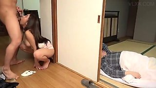 video titel: Young Japanese Housewife Fucks her Stepson. || porn tgas: asian,brunette,fuck,hairy,