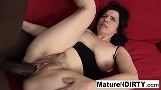 video titel: Mature with natural tits gets a creampie in her hairy pussy!    porn tgas: ass,big cock,creampie,hairy,iceporn