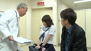 video titel: Noisy oriental schoolgirl getting fingered by her doctor on the medical bed || porn tgas: bed,doctor,medical,oriental,voyeurhit
