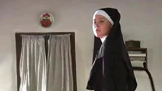 video titel: Slave girl is tied up and whipped by a sexy nun || porn tgas: bdsm,big tits,bondage,brunette,videotxxx