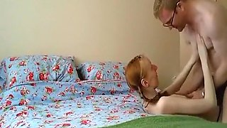 video titel: Anorexia pigtailed redhead girl has missionary, doggystyle and cowgirl sex with creampie on the bed. || porn tgas: bed,cowgirls,creampie,cumshots,