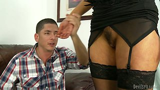 video titel: Old Woman and Young Stud Get Nice and Messy Together || porn tgas: blowjob,couple,cumshots,doggy,anyporn