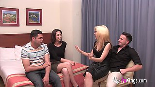 video titel: Their first swinger experience with only 18yo || porn tgas: 18 years old,couple,first time,old and young,videotxxx