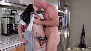 video titel: His maid is quite the whore and cleans his hard cock well || porn tgas: cock,maid,whores,anyporn