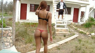 video titel: Cuban babe with a Tremendous Ass || porn tgas: ass,babe,beach,big tits,