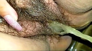 video titel: Mexican With Hairy Pussy Pisses and Farts Over Toilet || porn tgas: fart,hairy,latin,mexican,xhamster