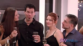 video titel: Shy swinger wishes to be more comfortable with the swinger experience    porn tgas: blowjob,couple,group,reality,xxxdan