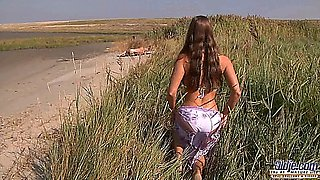 video titel: Young busty goddess riding old man in a wild fuck on the beach || porn tgas: beach,big tits,blowjob,busty,pornone_com