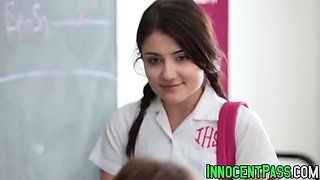 video titel: cute babe adria rae and her perverted teacher bang wildly    porn tgas: babe,blowjob,brunette,cute,jizzbunker