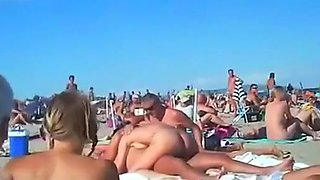 video titel: Voyeur tapes multiple couples fucking at a nudist beach || porn tgas: beach,couple,fuck,nudity,