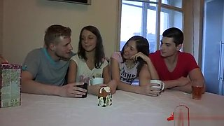 video titel: Stunning Honey Spreads Legs Wide For A Hardcore Fuck Session || porn tgas: brunette,doggy,group,hardcore,